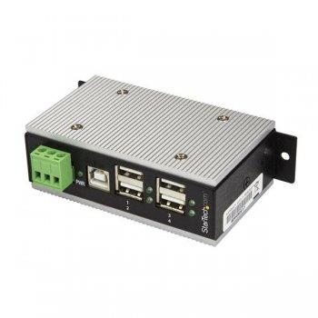 StarTech.com Hub Concentrador Ladrón USB 2.0 de 4 Puertos Industrial - Con protección de 15kV contra Descargas