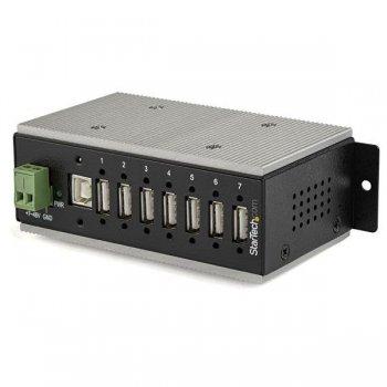 StarTech.com Hub Concentrador Ladrón USB 2.0 de 7 Puertos Industrial - Con protección de 15kV contra Descargas