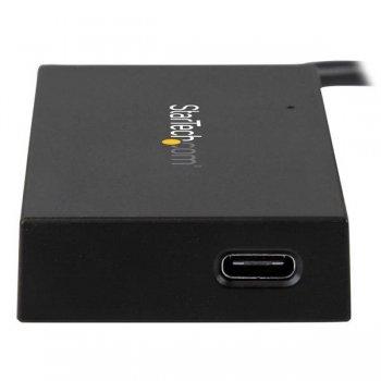 StarTech.com Concentrador USB 3.0 de 4 Puertos USB-C - Incluye Adaptador de Alimentación