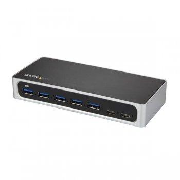 StarTech.com Hub Concentrador USB 3.0 USB C a 5x USB-A y 2x USB Tipo C de 7 Puertos - Ladrón USBC Alimentado