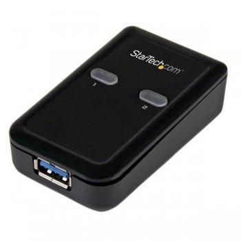 StarTech.com Conmutador Interruptor Compartidor USB 3.0 Sharing Switch - 1 Periférico - 2 Ordenadores