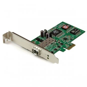 StarTech.com Tarjeta PCI Express Adaptadora de Red Gigabit con 1 Puerto SFP Abierto - NIC Ethernet PCI-E de Fibra