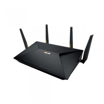 ASUS BRT-AC828 router inalámbrico Doble banda (2,4 GHz   5 GHz) Gigabit Ethernet 3G 4G Negro