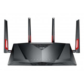 ASUS DSL-AC88U router inalámbrico Doble banda (2,4 GHz   5 GHz) Gigabit Ethernet Negro