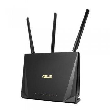 ASUS RT-AC65P router inalámbrico Doble banda (2,4 GHz   5 GHz) Gigabit Ethernet Negro