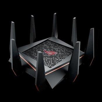 ASUS ROG Rapture GT-AC5300 router inalámbrico Tribanda (2,4 GHz 5 GHz 5 GHz) Gigabit Ethernet Negro