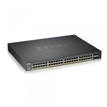 Zyxel XGS1930-52HP Gestionado L3 Gigabit Ethernet (10 100 1000) Negro Energía sobre Ethernet (PoE)