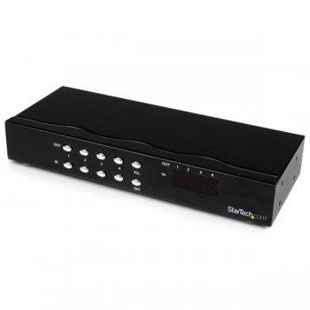 StarTech.com Conmutador Matrix VGA de 4 Puertos 4x4 con Audio - Switch Selector