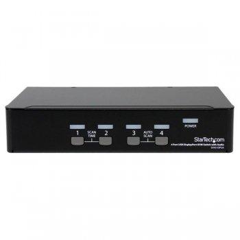 StarTech.com Conmutador Switch KVM 4 puertos Vídeo DisplayPort DP Hub Concentrador USB 2.0 Audio - 2560x1600