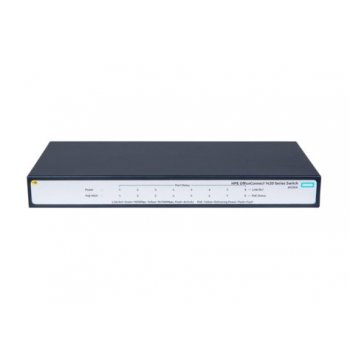 Hewlett Packard Enterprise OfficeConnect 1420 8G PoE+ (64W) No administrado L2 Gigabit Ethernet (10 100 1000) Gris 1U Energía