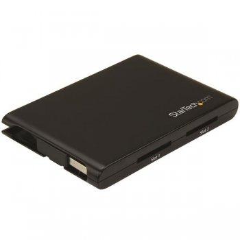 StarTech.com Lector Grabador USB 3.0 de Tarjetas de Memoria Flash SD con Dos Ranuras - SD 4.0, UHS II