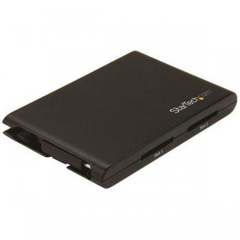 StarTech.com Lector Escritor de Tarjetas de Memoria SD con 2 Ranuras - USB 3.0 con Puerto USB-C - SD 4.0, UHS II