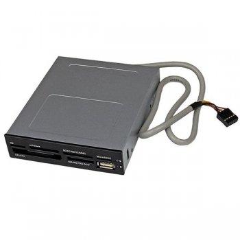 StarTech.com Adaptador Bahía Frontal 3.5in Lector para Tarjetas Memoria Flash SD CF SDHC XD M2 MS 22 en 1