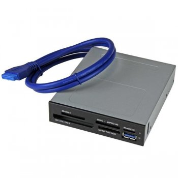 StarTech.com Lector Interno USB 3.0 para Tarjetas Memoria Flash con Soporte para UHS-II