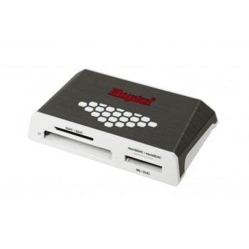 Kingston Technology USB 3.0 High-Speed Media Reader lector de tarjeta Gris, Blanco