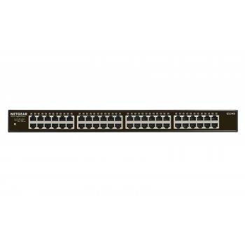 Netgear GS348 No administrado Gigabit Ethernet (10 100 1000) Negro 1U