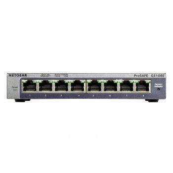 Netgear GS108E Gigabit Ethernet (10 100 1000) Negro
