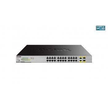 D-Link DGS-1026MP switch No administrado Gigabit Ethernet (10 100 1000) Negro, Gris Energía sobre Ethernet (PoE)