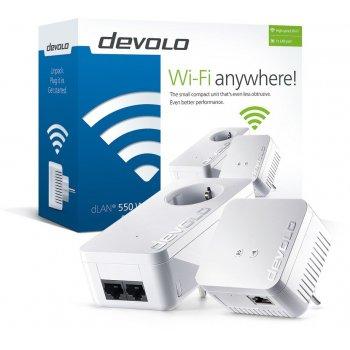 Devolo dLAN 550 WiFi Starter Kit 100 Mbit s Ethernet Blanco 2 pieza(s)