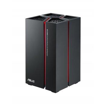 ASUS RP-AC68U router inalámbrico Doble banda (2,4 GHz   5 GHz) Gigabit Ethernet Negro, Rojo