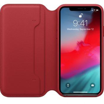 "Apple MRWX2ZM A funda para teléfono móvil 14,7 cm (5.8"") Folio Rojo"