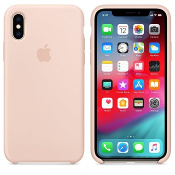 "Apple MTF82ZM A funda para teléfono móvil 14,7 cm (5.8"") Funda blanda Rosa, Arena"