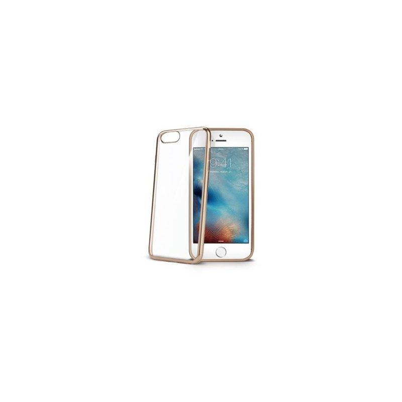 "Celly LASER800GD funda para teléfono móvil 11,9 cm (4.7"") Oro, Transparente"