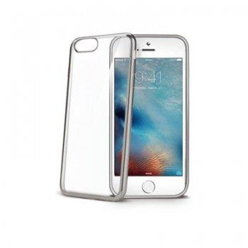 "Celly LASER800SV funda para teléfono móvil 11,9 cm (4.7"") Plata, Transparente"