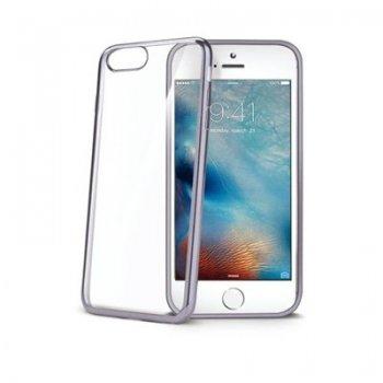 "Celly LASER801DS funda para teléfono móvil 14 cm (5.5"") Plata, Transparente"
