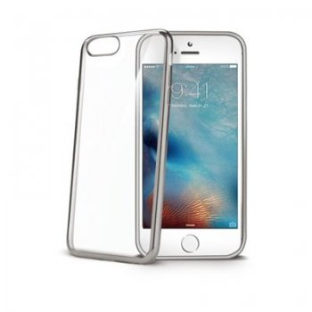 "Celly LASER801SV funda para teléfono móvil 14 cm (5.5"") Plata, Transparente"