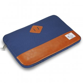 "e-Vitta Sleeve Heritage maletines para portátil 39,6 cm (15.6"") Funda Azul, Marrón"
