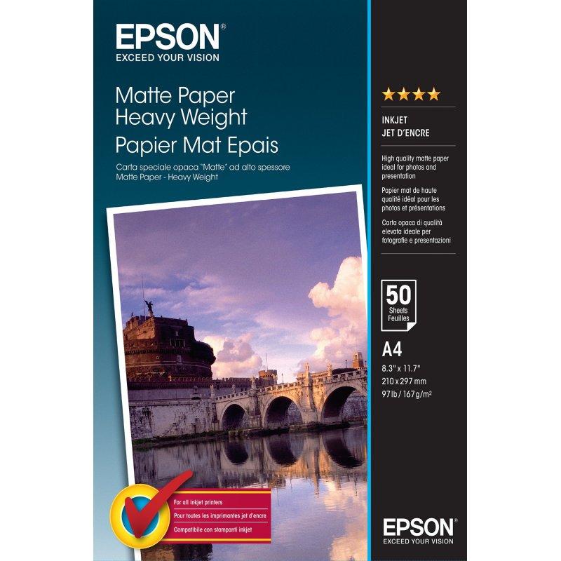Epson Matte Paper Heavy Weight - A4 - 50 hojas