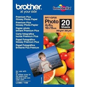 Brother BP71GP20 Premium Glossy Photo Paper papel fotográfico Blanco