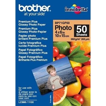 Brother BP71GP50 Premium Glossy Photo Paper papel fotográfico Blanco