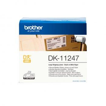 Brother DK-11247 cinta para impresora de etiquetas Negro sobre blanco