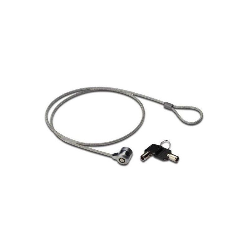Nilox MGLP40501M cable antirrobo Negro, Gris 1,5 m