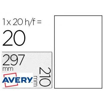 Avery L4775-20 etiqueta autoadhesiva Blanco 20 pieza(s)