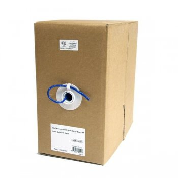 StarTech.com Rollo Bobina de 304,8m de Cable de Red Bulk a Granel UTP Cat5e Azul Sólido