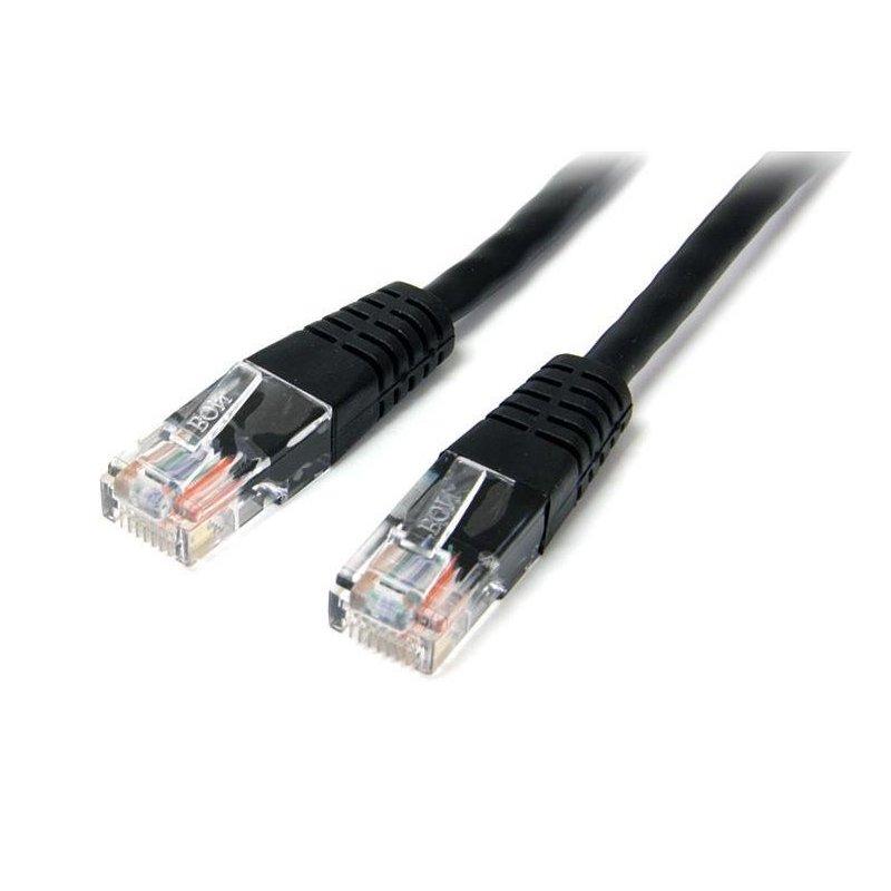 StarTech.com Cable de Red Ethernet 15m UTP Patch Cat5e Cat 5e RJ45 Moldeado - Negro