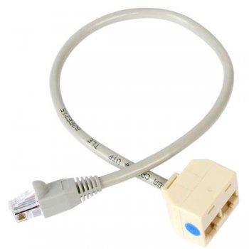 StarTech.com Cable Adaptador Divisor Splitter RJ45 2 a 1 - Hembra a Macho - Divisor Splitter para Cable de Red Ethernet RJ45