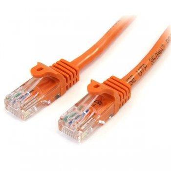 StarTech.com Cable de 2m Naranja de Red Fast Ethernet Cat5e RJ45 sin Enganche - Cable Patch Snagless