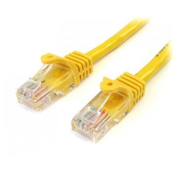 StarTech.com Cable de 1m Amarillo de Red Fast Ethernet Cat5e RJ45 sin Enganche - Cable Patch Snagless