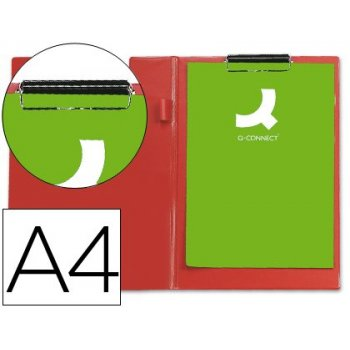 Connect Clipboard Double A4 Red portapapel Rojo