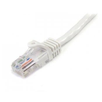 StarTech.com Cable de 3m Blanco de Red Fast Ethernet Cat5e RJ45 sin Enganche - Cable Patch Snagless