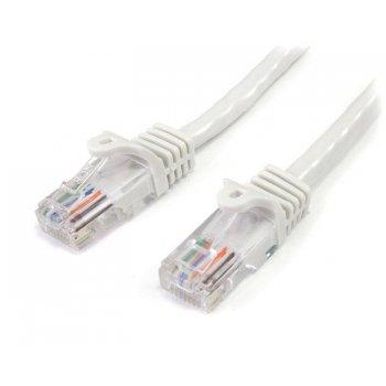 StarTech.com Cable de 2m Blanco de Red Fast Ethernet Cat5e RJ45 sin Enganche - Cable Patch Snagless