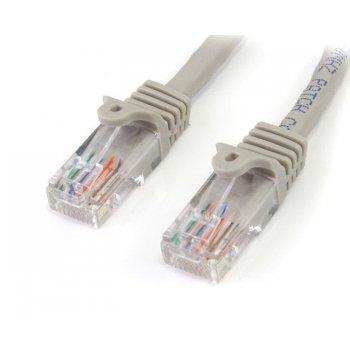 StarTech.com Cable de Red Ethernet 15m UTP Patch Snagless Sin Enganches Cat5e Cat 5e RJ45 - Gris