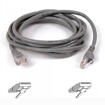 Belkin 50m RJ-45 CAT-5e cable de red 0,5 m Gris