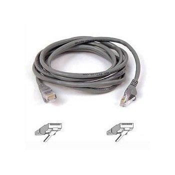 Belkin Cable patch CAT5 RJ45 snagless 1m grey cable de red Cat5e U UTP (UTP) Gris