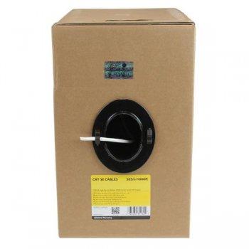 StarTech.com Rollo Bobina de 304,8m de Cable de Red Sólido Bulk a Granel UTP Cat5e Blanco Certificado CMR (Riser)