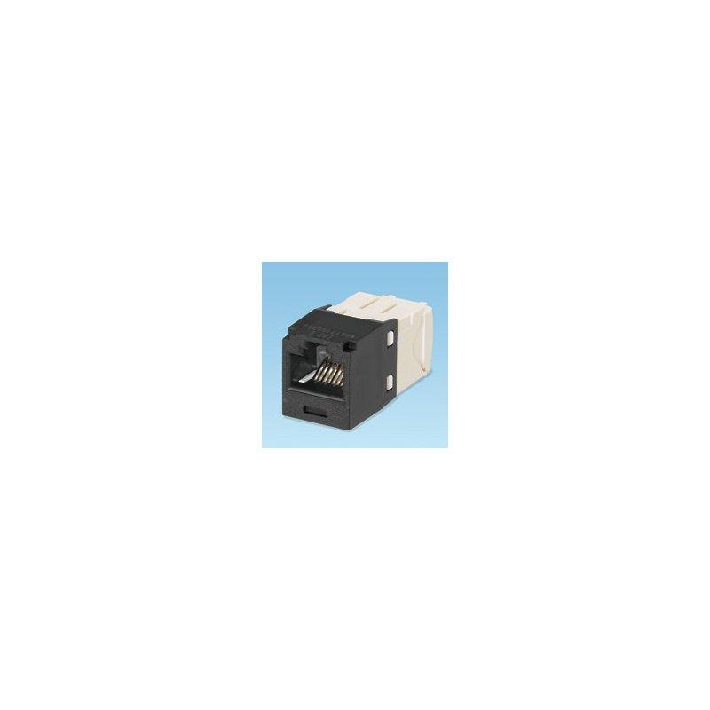 Panduit UTP RJ45 TG-MiniJack kat 6 Negro, Blanco